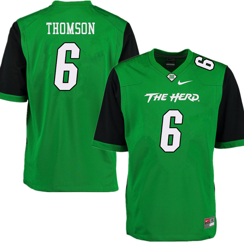 Men #6 Alex Thomson Marshall Thundering Herd College Football Jerseys Sale-Green