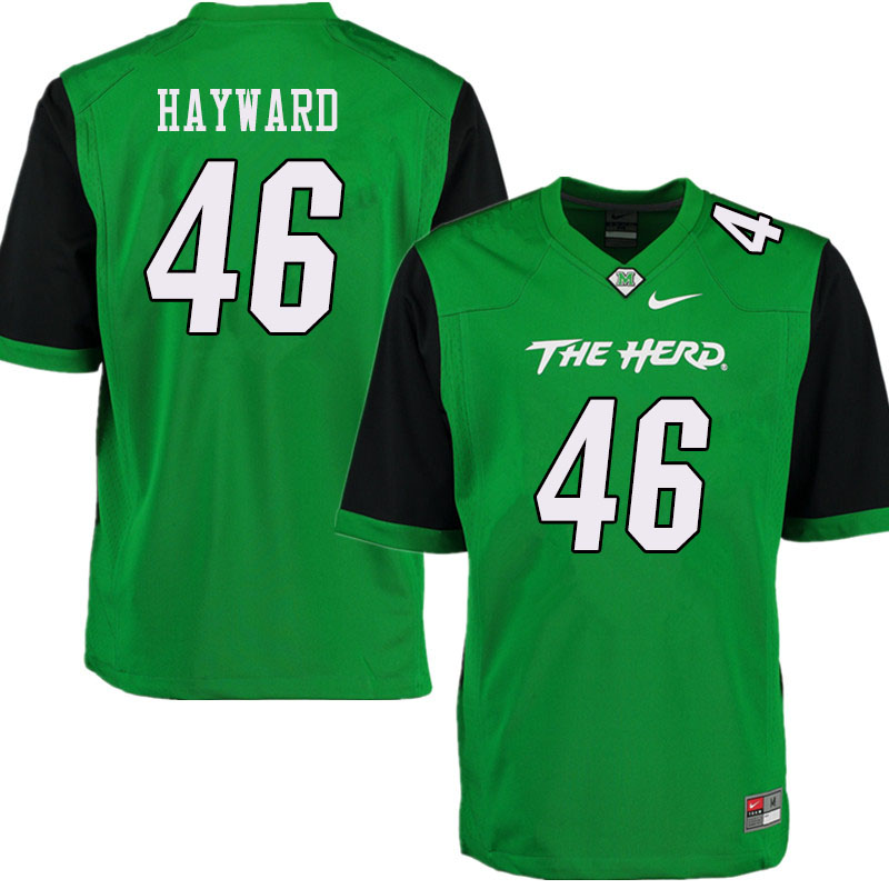 Men #46 Breon Hayward Marshall Thundering Herd College Football Jerseys Sale-Green
