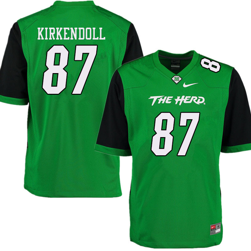 Men #87 Jacob Kirkendoll Marshall Thundering Herd College Football Jerseys Sale-Green