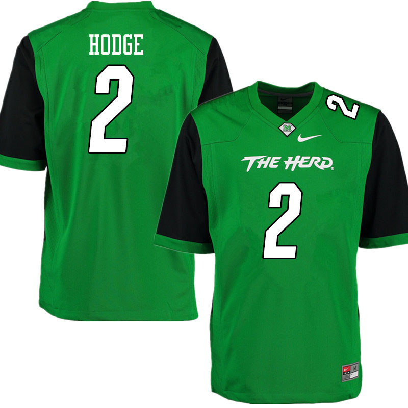 Men #2 Darius Hodge Marshall Thundering Herd College Football Jerseys Sale-Gren