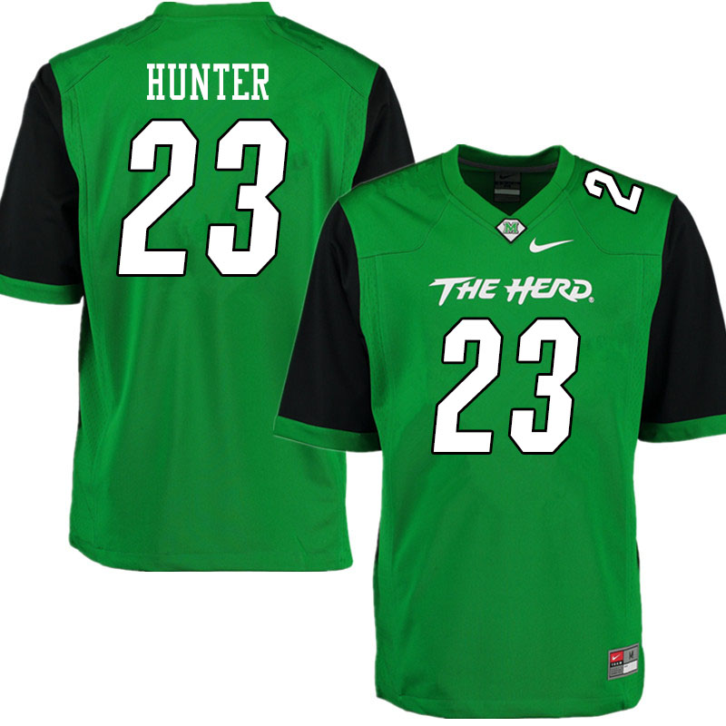 Men #23 Rashawn Hunter Marshall Thundering Herd College Football Jerseys Sale-Gren