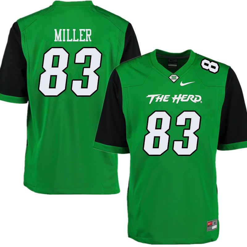 Men #83 Devin Miller Marshall Thundering Herd College Football Jerseys Sale-Green