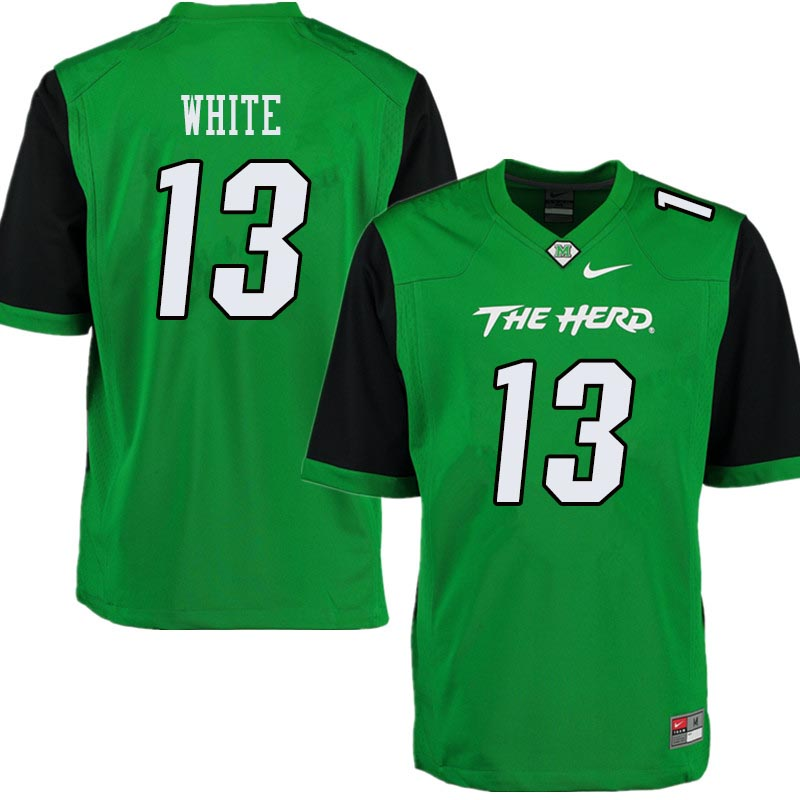 Men #13 Jackson White Marshall Thundering Herd College Football Jerseys Sale-Green