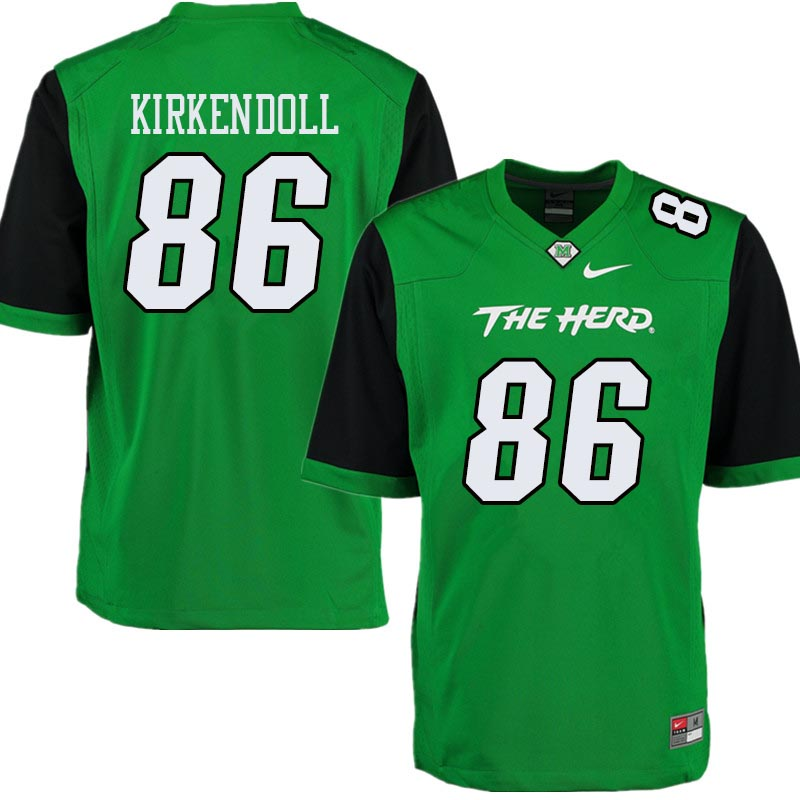Men #86 Jacob Kirkendoll Marshall Thundering Herd College Football Jerseys Sale-Green
