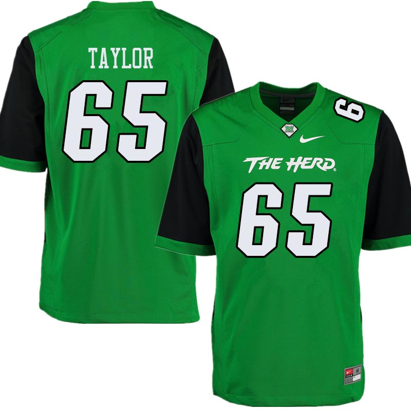 Men #65 Kyron Taylor Marshall Thundering Herd College Football Jerseys Sale-Green