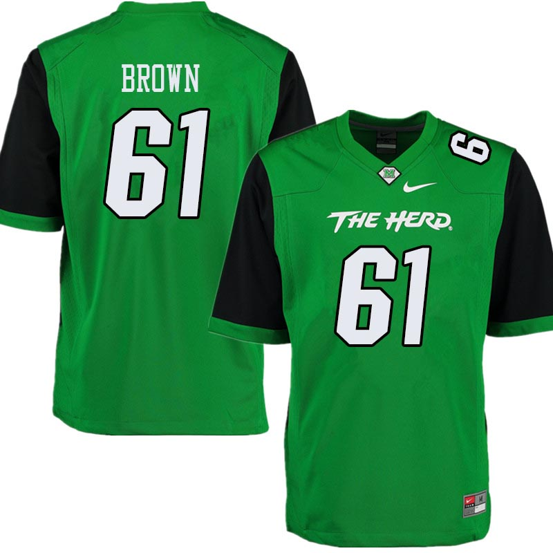 Men #61 Levi Brown Marshall Thundering Herd College Football Jerseys Sale-Green