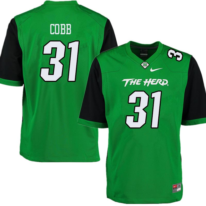 Men #31 Omari Cobb Marshall Thundering Herd College Football Jerseys Sale-Green