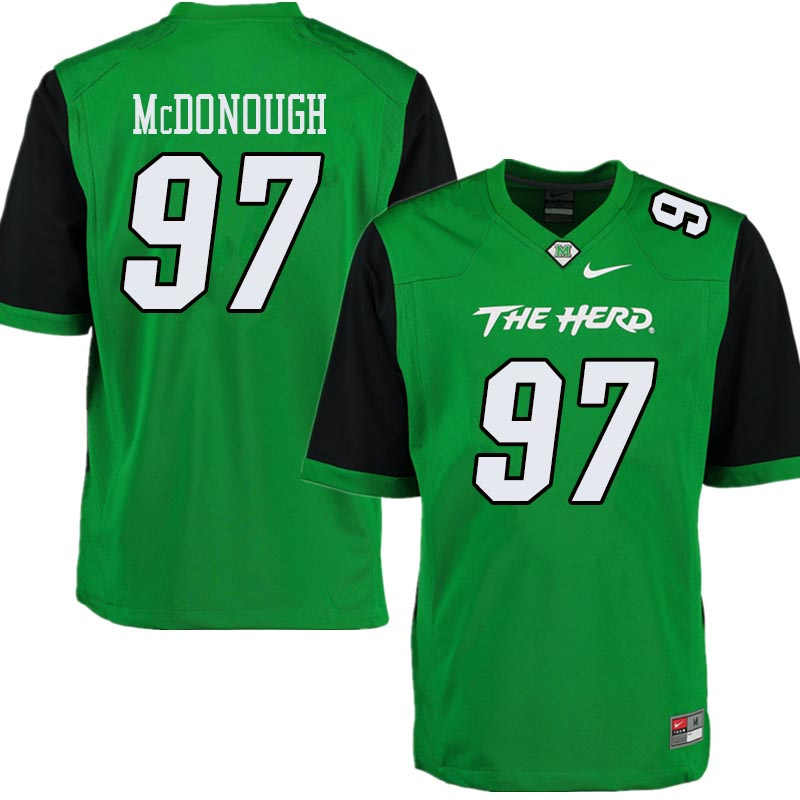Men #97 Shane McDonough Marshall Thundering Herd College Football Jerseys Sale-Green