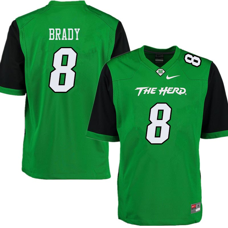 Men #8 Tyre Brady Marshall Thundering Herd College Football Jerseys Sale-Green