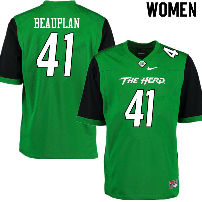 Women #41 Abraham Beauplan Marshall Thundering Herd College Football Jerseys Sale-Gren