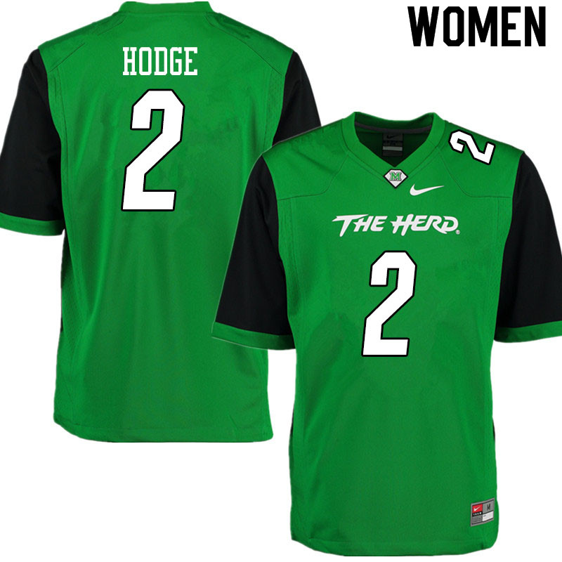 Women #2 Darius Hodge Marshall Thundering Herd College Football Jerseys Sale-Gren