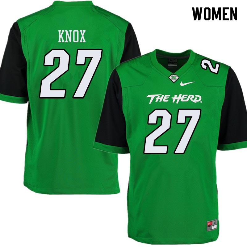 Women #27 Brenden Knox Marshall Thundering Herd College Football Jerseys Sale-Green