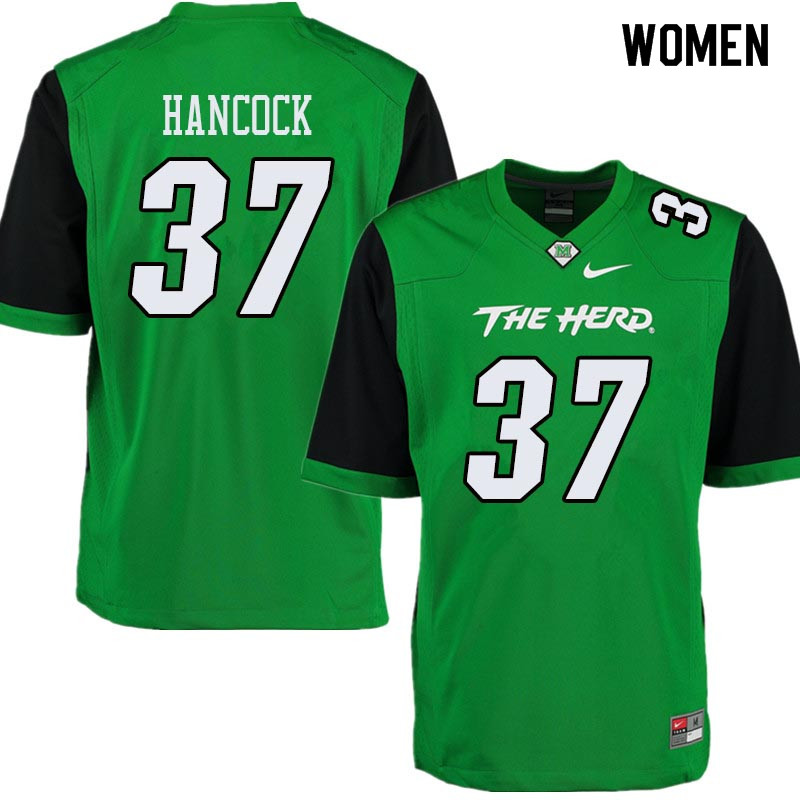 Women #37 Chase Hancock Marshall Thundering Herd College Football Jerseys Sale-Green