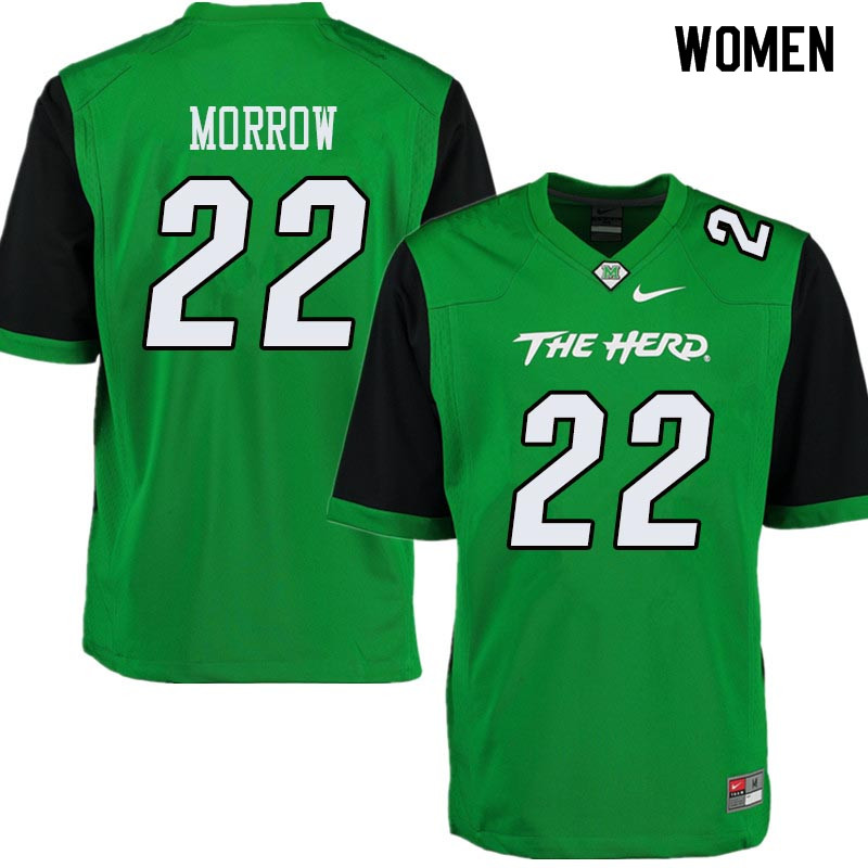 Women #22 Jestin Morrow Marshall Thundering Herd College Football Jerseys Sale-Green