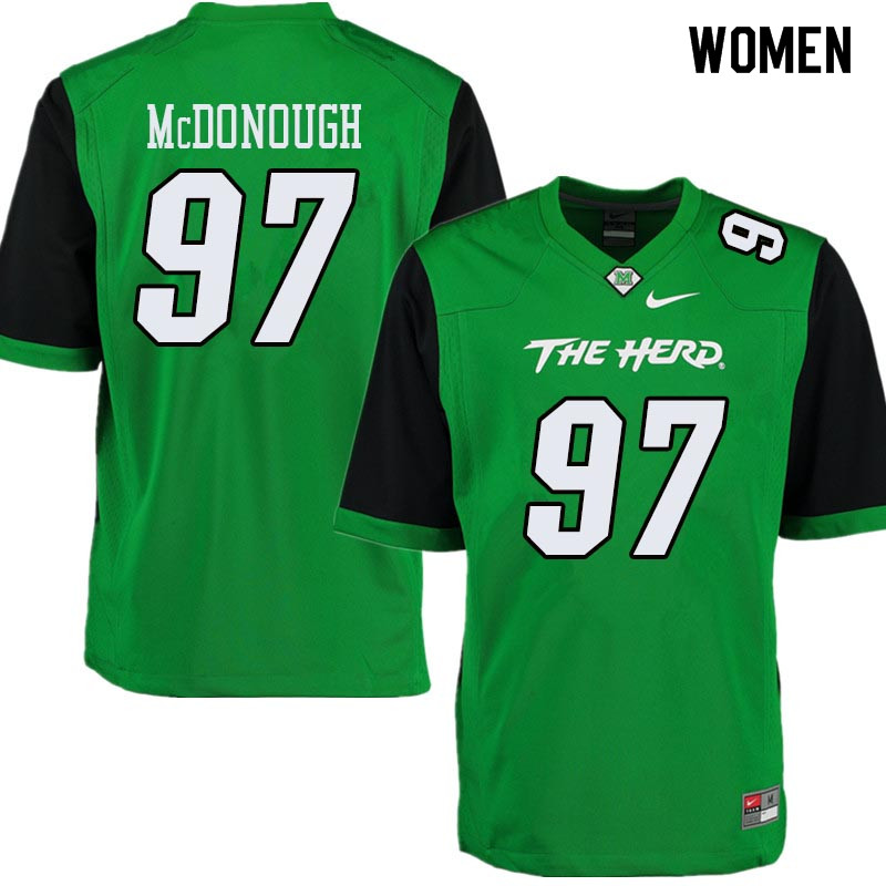 Women #97 Shane McDonough Marshall Thundering Herd College Football Jerseys Sale-Green