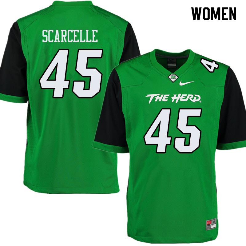 Women #45 Stone Scarcelle Marshall Thundering Herd College Football Jerseys Sale-Green