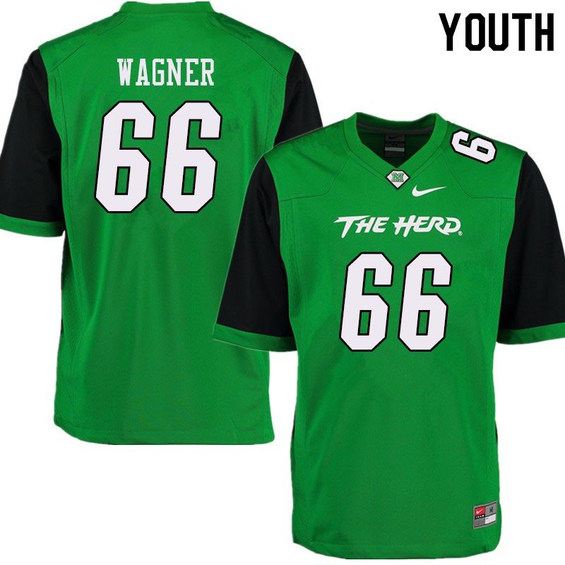Youth #66 Zach Wagner Marshall Thundering Herd College Football Jerseys Sale-Green
