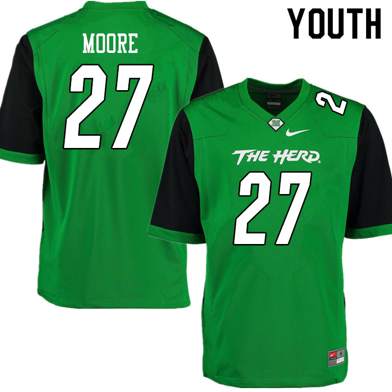 Youth #27 Cameron Moore Marshall Thundering Herd College Football Jerseys Sale-Gren