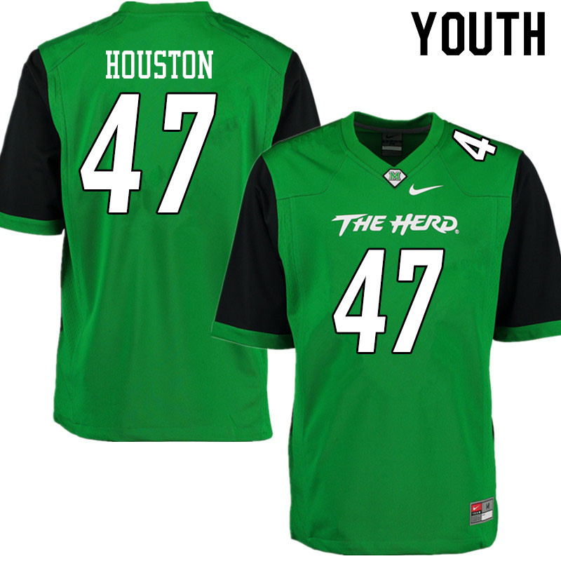 Youth #47 Cecil Houston Marshall Thundering Herd College Football Jerseys Sale-Gren