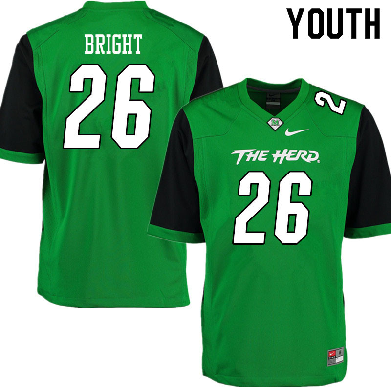 Youth #26 Chancellor Bright Marshall Thundering Herd College Football Jerseys Sale-Gren