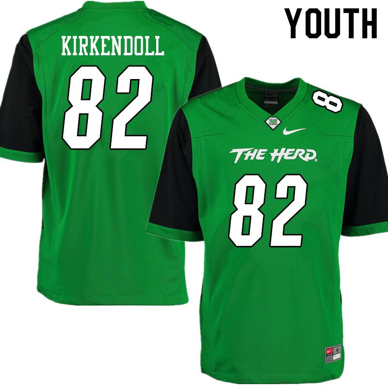 Youth #82 Jacob Kirkendoll Marshall Thundering Herd College Football Jerseys Sale-Gren