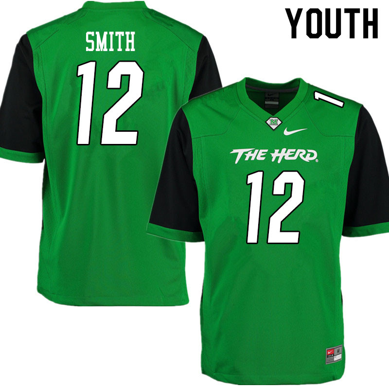 Youth #12 Jeremy Smith Marshall Thundering Herd College Football Jerseys Sale-Gren