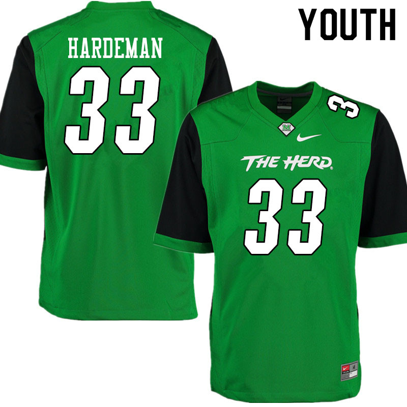 Youth #33 Josh Hardeman Marshall Thundering Herd College Football Jerseys Sale-Gren