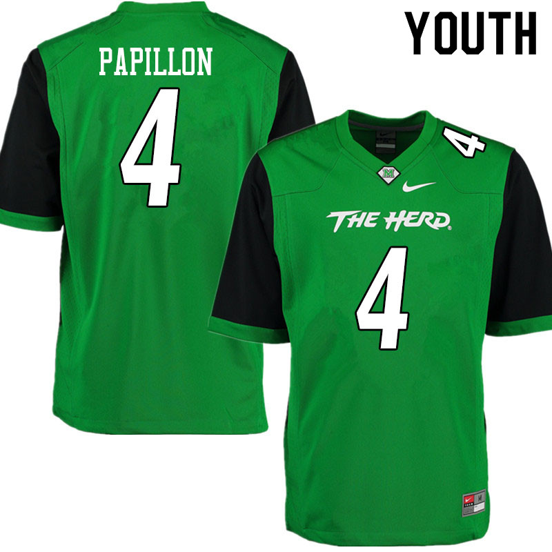 Youth #4 Lawrence Papillon Marshall Thundering Herd College Football Jerseys Sale-Gren