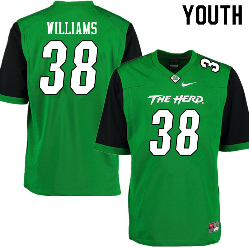 Youth #38 Miles Williams Marshall Thundering Herd College Football Jerseys Sale-Gren