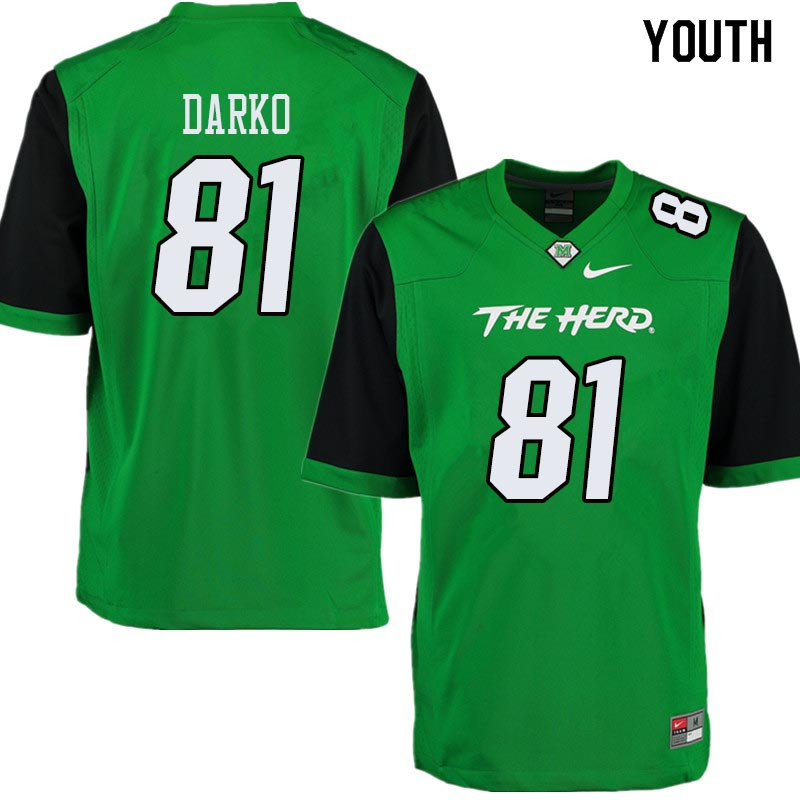 Youth #81 Daniel Darko Marshall Thundering Herd College Football Jerseys Sale-Green