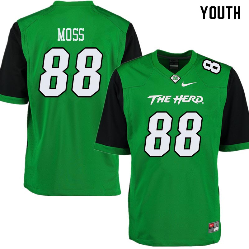 Youth #88 Randy Moss Marshall Thundering Herd College Football Jerseys Sale-Green