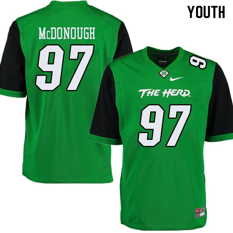 Youth #97 Shane McDonough Marshall Thundering Herd College Football Jerseys Sale-Green